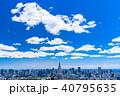 東京都 青空 都市風景の写真 40795635