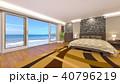 ベッドルーム 寝室 ベッドのイラスト 40796219