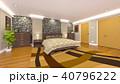 ベッドルーム 寝室 ベッドのイラスト 40796222