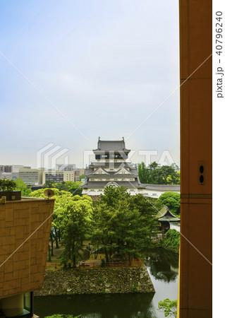 リバーウォーク北九州から見る小倉城 40796240