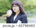 女性 ヘアスタイル コーヒーの写真 40796465