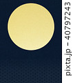 背景-和-金箔-月-日の出 40797243