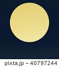背景-和-金箔-月-日の出 40797244