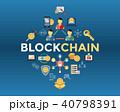 ブロックチェーン アイコン ブロックのイラスト 40798391