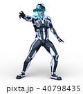 スーパーヒーロー ヒーロー 白バックのイラスト 40798435