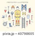 ファイター 機器 火事のイラスト 40798605