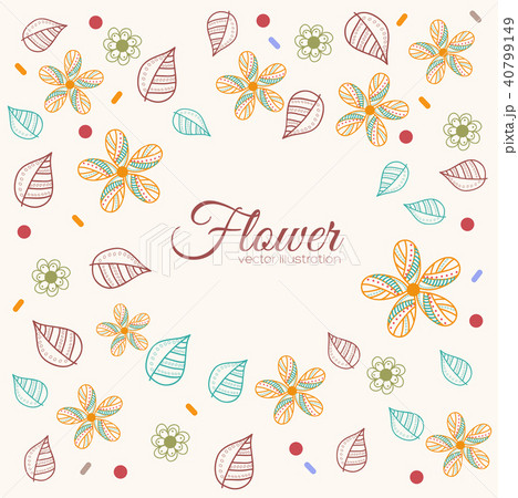 decor flower template concept icons design のイラスト素材 40799149