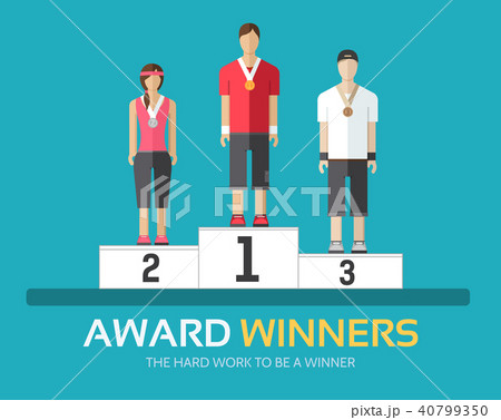 Award winners in flat design background concept. 40799350