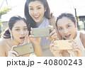 女性 スマートフォン 撮影 40800243