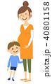 親子 お母さん 男の子のイラスト 40801158