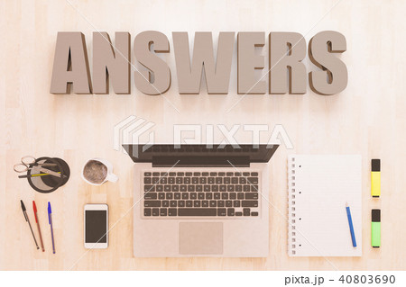 answersのイラスト素材 40803690 pixta