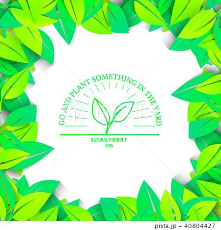 Eco nature plant colorful illustration. Ecology  40804427