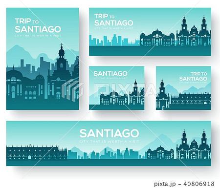 Set of Santiago landscape country ornament travel  40806918