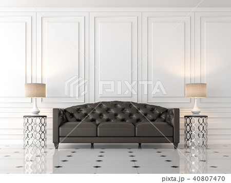modern classic living room 3d renderのイラスト素材 40807470 pixta