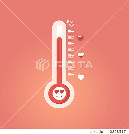 The temperature of love. Valentines Day  40808517