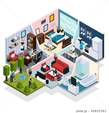 Home Staff Isometric Composition 40810381