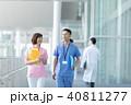 男性 医者 女性看護師の写真 40811277
