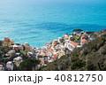 山上から見下ろすチンクエ・テッレの村 リオマッジョーレ(イタリア・リグーリア州) 40812750