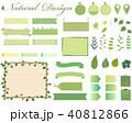 植物 フレーム 枠のイラスト 40812866