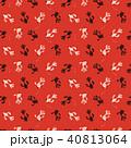金魚の模様 スタンプイラスト 夏イメージ 40813064