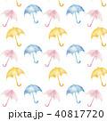 パターン 水彩 傘のイラスト 40817720