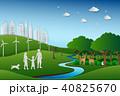 ファミリー 緑色 自然のイラスト 40825670