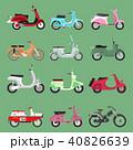 ベクトル レトロ モーターバイクのイラスト 40826639