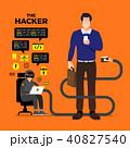ハッカー サイバー セキュリティのイラスト 40827540