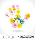 花 フラワー 手のイラスト 40828329