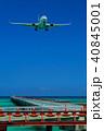 下地島空港 飛行場 飛行機の写真 40845001