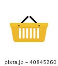 ショッピング バスケット アイコンのイラスト 40845260