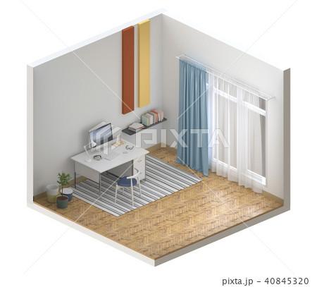 mock up interior living room, 3D render 40845320