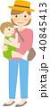 親子 母親 赤ちゃんのイラスト 40845413