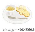 パン バター マーガリン イラスト 40845698
