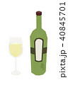 白ワイン イラスト オシャレ 40845701