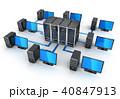 サーバー インターネット 連結のイラスト 40847913
