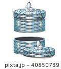 バスケット 枝編み細工 容器のイラスト 40850739