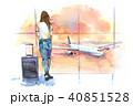 女の人 女性 空港のイラスト 40851528