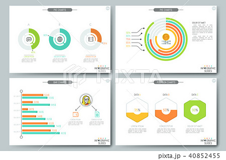 simple infographic brochure template pages with personal income
