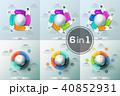 丸 円 円形のイラスト 40852931