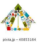 キャンプ 野営 収容所のイラスト 40853164