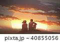カップル 二人 二人連れのイラスト 40855056
