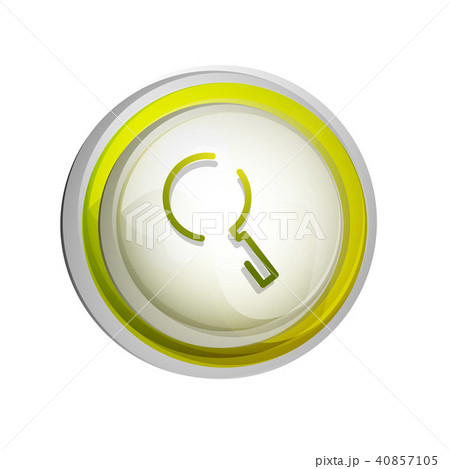 Search magnifyier web button, magnify icon. Modern magnifying glass sign, web site design or mobile 40857105