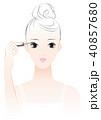 女性 マスカラ メイクのイラスト 40857680