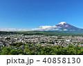 富士山 春 新緑の写真 40858130