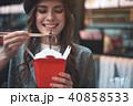 食べる アジア人 アジアンの写真 40858533