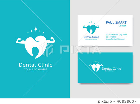dental clinic business card design template のイラスト素材
