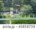 親子 遊園地 新緑の写真 40858739