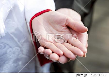 和装結婚式 指輪 40861579