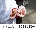 和装結婚式 祝い鶴 40861590